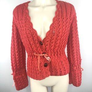 BLOOM chunky knit sweater cardigan jacket M